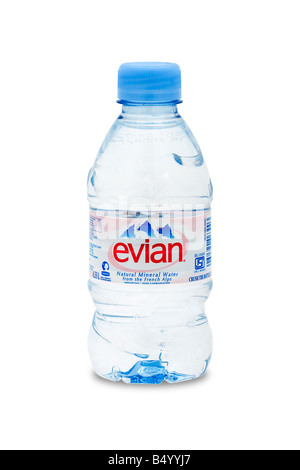 evian natural mineral water from the french alps - Stock Photo