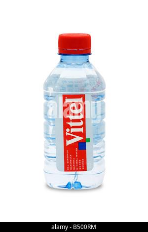 mineral water bottle unit vittel natural bonne source - Stock Photo