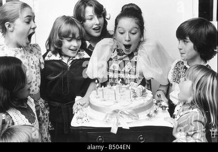 Lena Zavaroni Pop Singer on her 12th birthday msi - Stock Photo