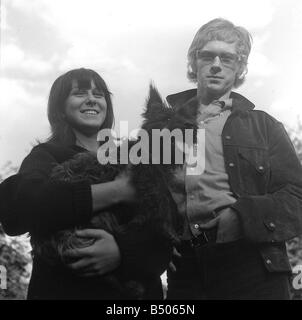 Andrew Loog Oldham September 1964 Rolling Stones Manager with his wife Sheila - Stock Photo