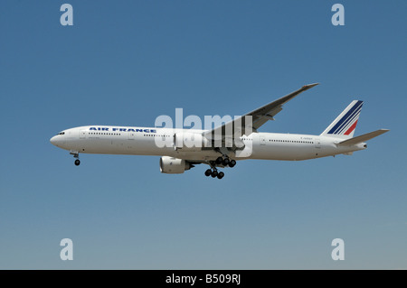 Air France operated Boeing 777 about to land at LAX - Stock Photo
