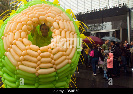 Opening weekend of the Museum of Arts and Design in Columbus Circle in New York - Stock Photo