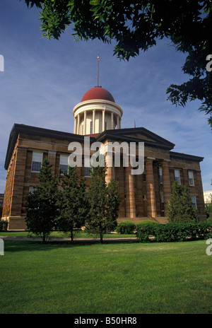 Old State Capitol building Springfield Illinois - Stock Photo