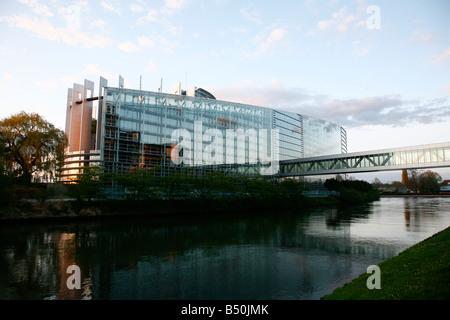 Sep 2008 European Parliament building Strasbourg Alsace France - Stock Photo