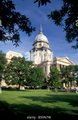State Capitol building Springfield Illinois - Stock Photo