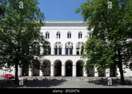 geography / travel, Germany, Bavaria, Munich, buildings, Ludwig-Maximilian-University (LMU), exterior view, Additional - Stock Photo