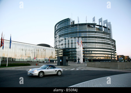 Sep 2008 - European Parliament building Strasbourg Alsace France - Stock Photo