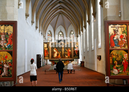 Sep 2008 - The Issenheim Altarpiece in the Unterlinden Museum Colmar Alsace France - Stock Photo