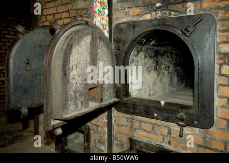 A sobering reminder - the cremetorium at Auschwitz 1 concentration camp in Poland. - Stock Photo