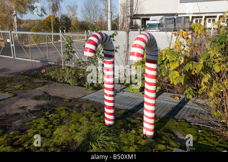 air ventilation pipes at candy factory - Stock Photo