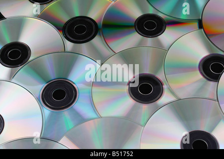 cd dvd discs over black background computers - Stock Photo