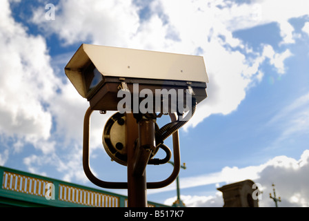 CCTV Surveillance Camera in London - Stock Photo