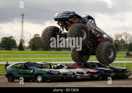 Monster Truck Crushing Cars Stock Photo Royalty Free Image