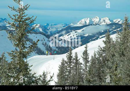 Zell am See ski resort, Austria - Stock Photo