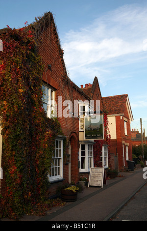 The Bull public house in the village of Cavendish in Suffolk UK - Stock Photo