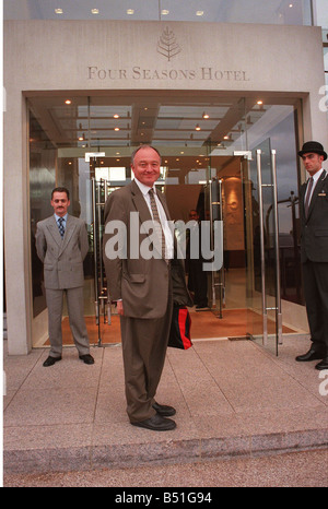 Mayor of London Ken Livingstone arrives at the Four Seasons Hotel Canary Wharf for a reception for the International - Stock Photo