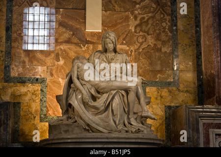 Pieta, St Peter's Basilica, Vatican City, Rome, Latium, Italy