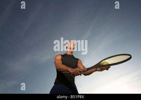 Portrait of Tennis Player - Stock Photo