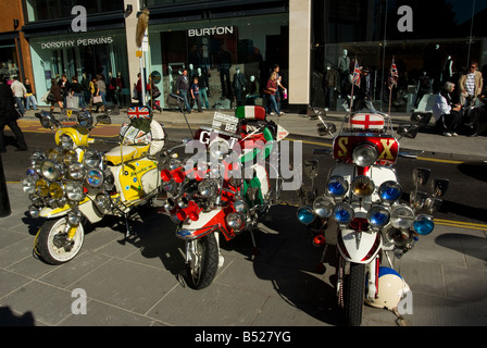 1960s Motor Scooters - Stock Photo