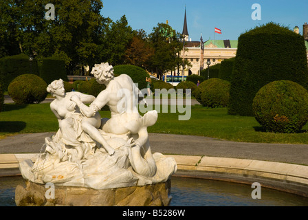 Maria Theresien Platz park in central Vienna Austria Europe - Stock Photo