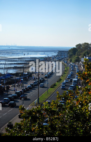 west facing - seafront Southend on sea - Stock Photo