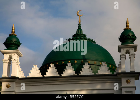 Crescent Dome Minarets Shah Jahan Mosque Woking Surrey England - Stock Photo