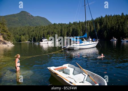 Melanie Cove Desolation Sound British Columbia Canada - Stock Photo