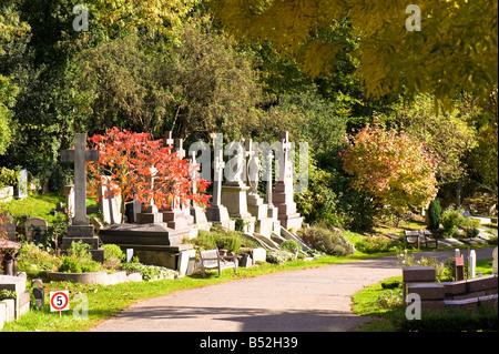 Highgate Cemetery Highgate N6 London United Kingdom - Stock Photo