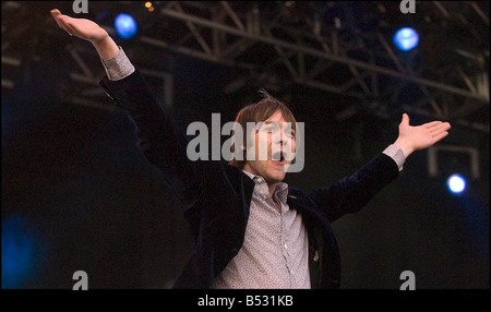 T in the Park July 2007 Kasabien headline the nme stage - Stock Photo
