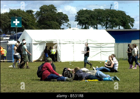 ... T in the Park July 2007 Medical Tents - Stock Photo & T in the Park July 2007 Medical Tents Stock Photo Royalty Free ...