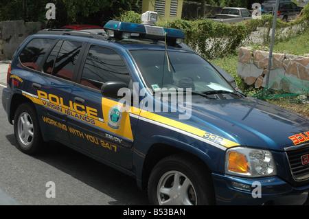 police car st thomas USVI - Stock Photo