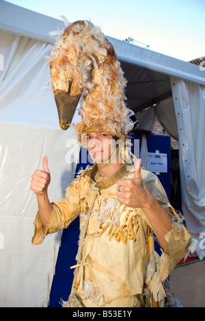 Member of the Ballet of the Theatre Usti nad Labem during rehearsal for a production of Carmina Burana Monumental - Stock Photo