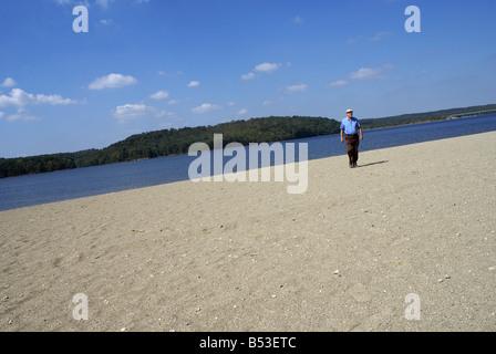 Alone On Beach - Stock Photo