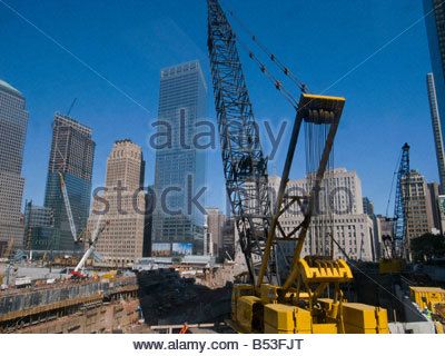 The Rebuiding of Ground Zero in Manhattan in New York - Stock Photo