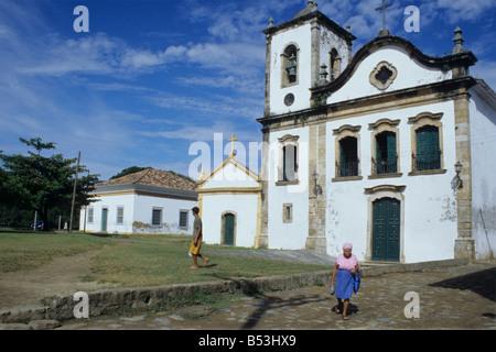Capela de Santa Rita Church in Paraty, Brazil - Stock Photo