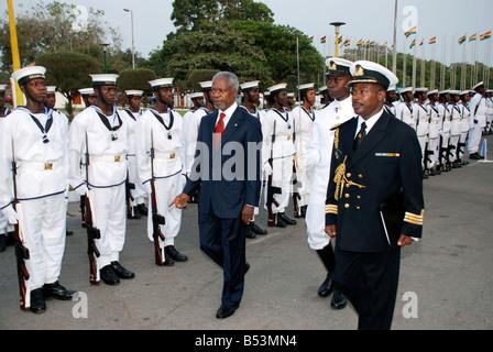 Kofi Annan, former Secretary General of the UN on an official visit to Ghana. - Stock Photo