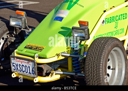 The Racer electric vehicle design Santa Monica, California  powered by six gel cell truck batteries and is capable - Stock Photo