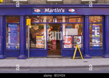 Martin's the newsagent in Bungay,Suffolk,Uk - Stock Photo