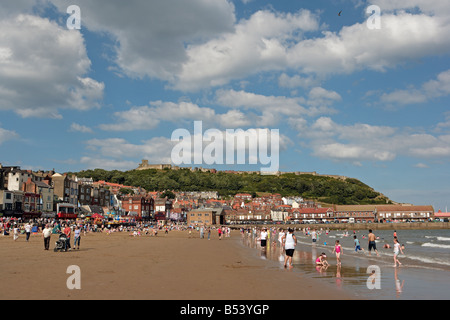 Scarborough South Bay and Castle - Stock Photo