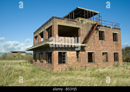 WW2 Air Traffic Control Tower at Duxford Cambridgeshire UK Stock ...