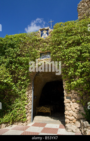 Church of the Virgin of the Rock Mijas village Spain Santisima Virgen de la Pena - Stock Photo