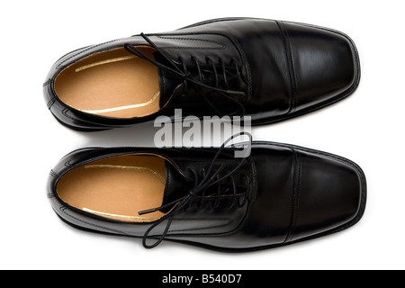 Mens classical shoes isolated (cut-out) on white background. 16 BIT Tiff also available on demand - Stock Photo