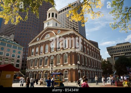 Faneuil Hall designed by Charles Bullfinch Boston Massachusetts - Stock Photo