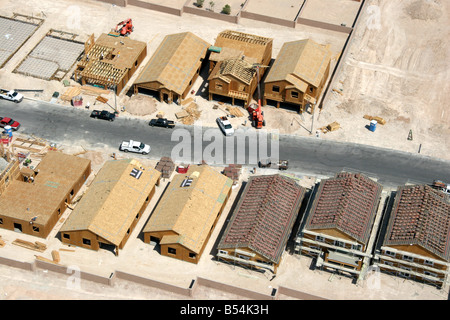 New homes being built in Las Vegas Nevada USA - Stock Photo