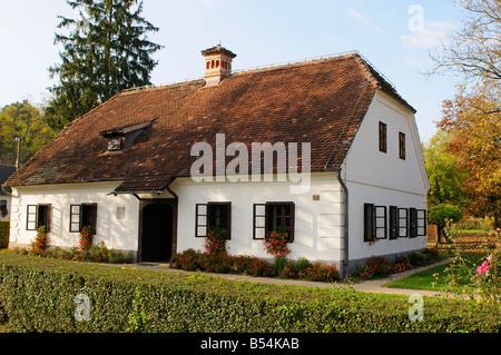 Birth house of Josip Broz Tito featuring Memorial Museum of  Marshal Tito, Kumrovec, Northen County of Zagorje Croatia - Stock Photo