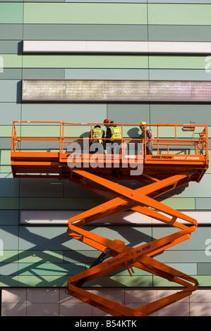 Construction in progress on Westfield Shopping Centre London United Kingdom - Stock Photo