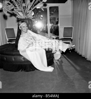 Petula Clark star of Goodbye Mr. Chips today visited the salon of Christian Dior-London in Conduit street for her - Stock Photo