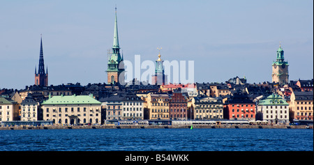 View of Gamla Stan the Old Town of Stockholm Sweden - Stock Photo
