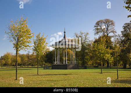 View of bandstand in Kensington Gardens, London, Engand, UK - Stock Photo