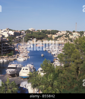 Scene in Porto Cristo East Coast Mallorca Majorca Balearic Islands Spain. - Stock Photo